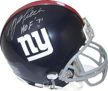 Y.A. Tittle signed New York Giants TB Riddell Mini Helmet HOF 1971 PSM-Powers Sports Memorabilia