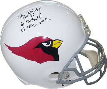 Dan Dierdorf signed St. Louis Cardinals Full Size Replica TB Helmet 3 stat HOF 96/6X Pro Bowl/5X 1st Time All Pro PSM-Powers Sports Memorabilia