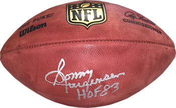 Sonny Jurgensen signed Official NFL New Duke Football HOF 83- Beckett Hologram (Washington Redskins) PSM-Powers Sports Memorabilia