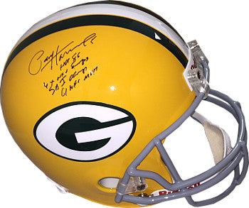Paul Hornung signed Green Bay Packers Riddell FS Rep TB Helmet 4 stat HOF 86, 4X NFL Champs, SB I Champs & 61 NFL MVP- JSA PSM-Powers Sports Memorabilia