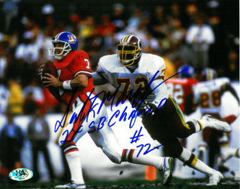 Dexter Manley signed Washington Redskins 8x10 Photo #72 2X SB Champs PSM-Powers Sports Memorabilia