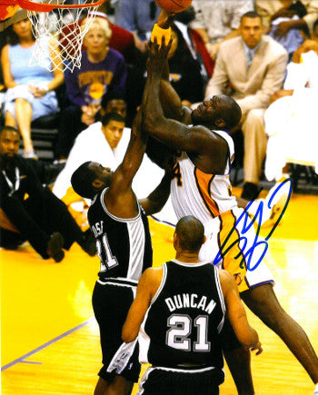 Shaquille O'Neal signed Los Angeles Lakers 8x10 Photo (vs Spurs) PSM-Powers Sports Memorabilia