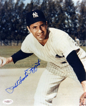 Phil Rizzuto signed New York Yankees 8x10 Photo Scooter- JSA Hologram (deceased) PSM-Powers Sports Memorabilia
