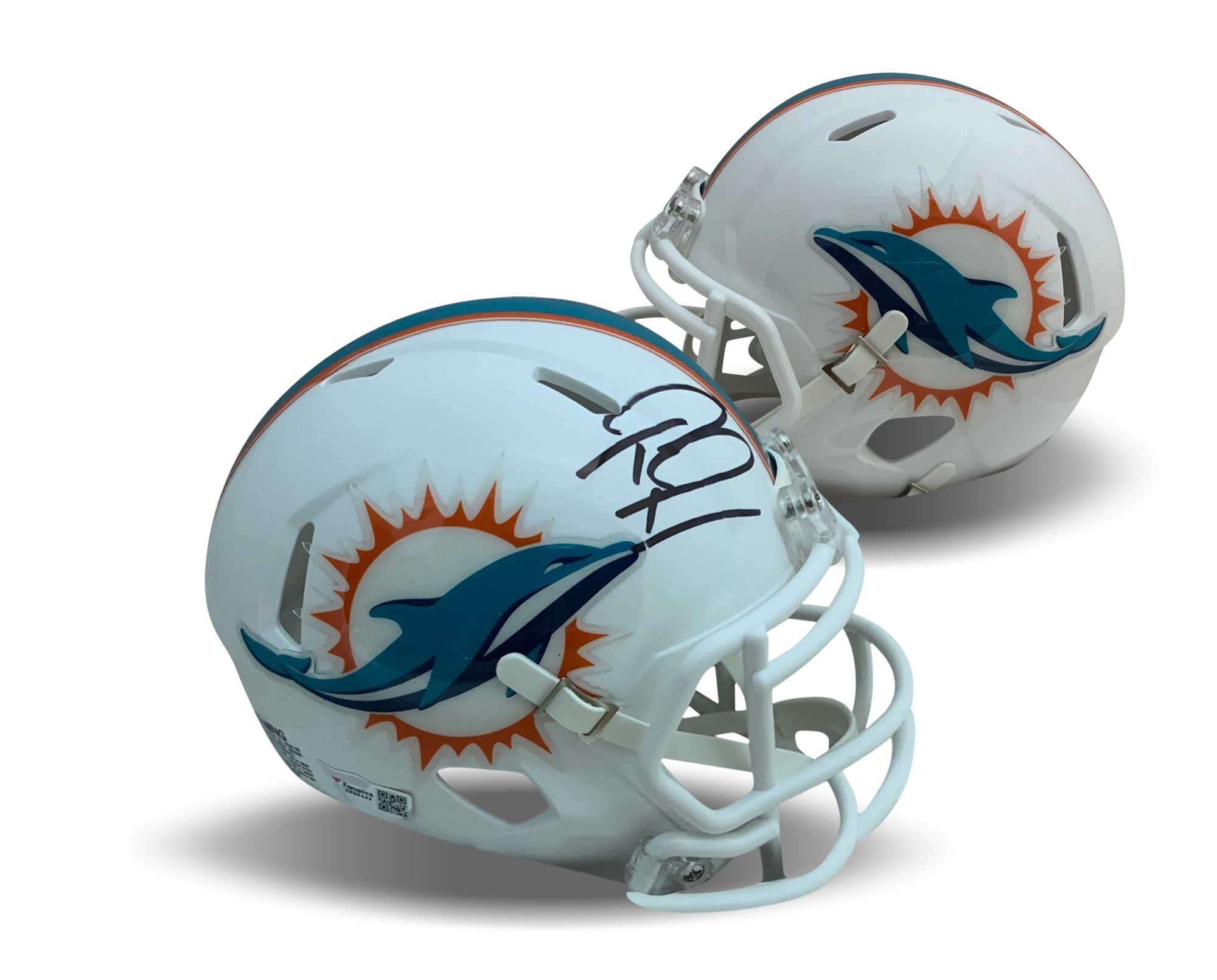 Tua Tagovailoa Autographed Miami Dolphins Signed NFL Football Mini Helmet Fanatics Authentic COA-Powers Sports Memorabilia