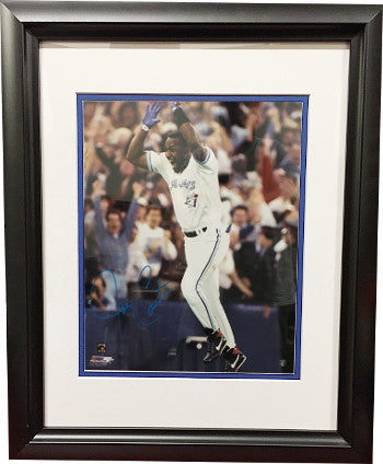 Joe Carter signed Toronto Blue Jays 16X20 Photo Custom Framing (1993 World Series Celebration) PSM-Powers Sports Memorabilia