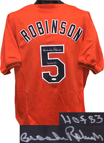 cea6b391219 Brooks Robinson signed Orange TB Custom Stitched Baseball Jersey HOF 83 XL-  JSA Hologram PSM