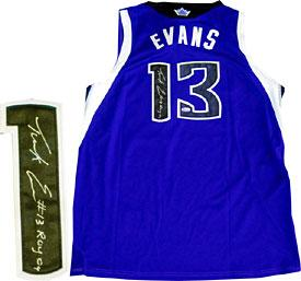 Tyreke Evans ROY 09 Autographed / Signed Sacramento Kings Purple Jersey PSM-Powers Sports Memorabilia