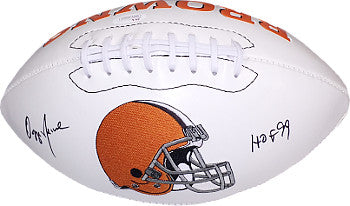 Ozzie Newsome signed Cleveland Browns White Logo Football HOF 99- JSA Hologram PSM-Powers Sports Memorabilia