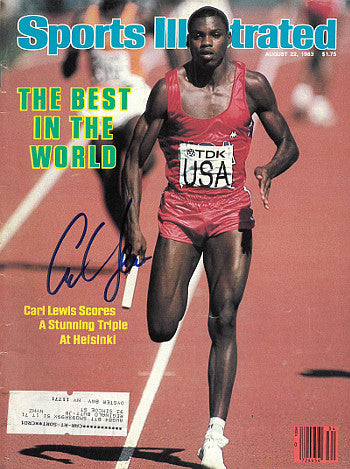Carl Lewis signed Team USA Sports Illustrated Full Magazine 8/22/1983 (1983 World Championships) PSM-Powers Sports Memorabilia