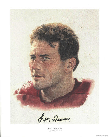 Len Dawson signed Kansas City Chiefs 10.5x13 Color QB Legends Photo Lithograph- JSA Hologram #DD64378 PSM-Powers Sports Memorabilia