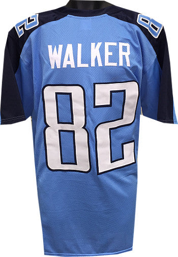 Delanie Walker Light Blue Custom Stitched Pro Style Football Jersey XL PSM-Powers Sports Memorabilia