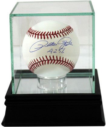 Baseball 1-Ball Glass Deluxe Display Case W/ Black Base and Mirror PSM-Powers Sports Memorabilia
