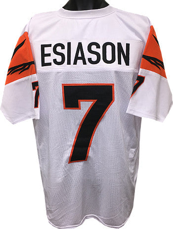 Boomer Esiason White TB Custom Stitched Pro Style Football Jersey XL PSM-Powers Sports Memorabilia