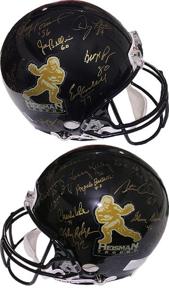 Heisman Trophy Winners signed Black Riddell Full Size Authentic Helmet- 21  Sigs- Roger Staubach ce88d6b4f