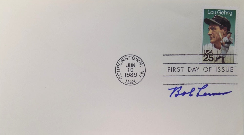 Bob Lemon Cleveland Indians Signed First Day Cover PSM-Powers Sports Memorabilia