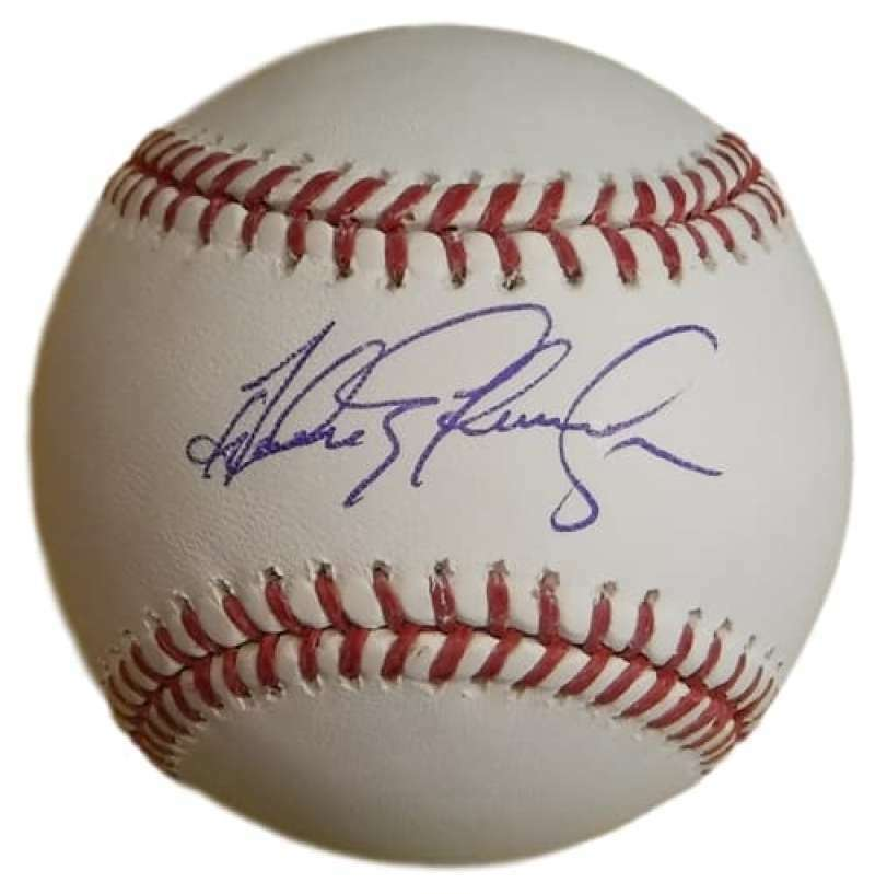 Andres Galarraga Autographed Colorado Rockies OML Baseball Name Only JSA PSM-Powers Sports Memorabilia