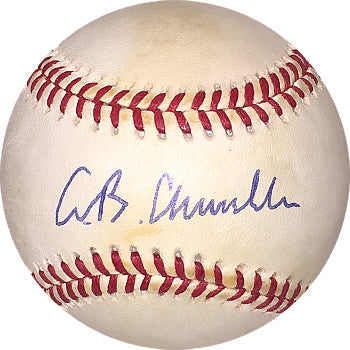 AB Chandler signed Official National League Baseball minor tone PSM-Powers Sports Memorabilia