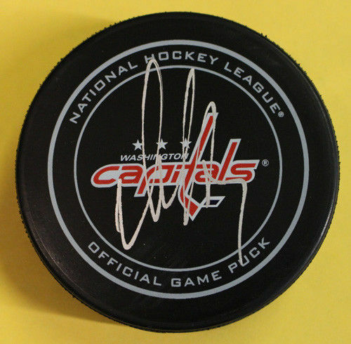 Alex Ovechkin Autographed Washington Capitals Official NHL Puck JSA PSM-Powers Sports Memorabilia