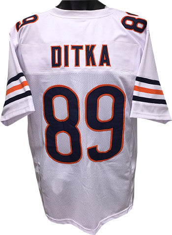 Mike Ditka White TB Custom Stitched Pro Style Football Jersey XL PSM-Powers Sports Memorabilia