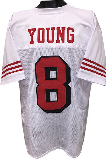 Steve Young unsigned White w/ Shadow #'s TB Custom Stitched Pro Style Football Jersey XL PSM-Powers Sports Memorabilia