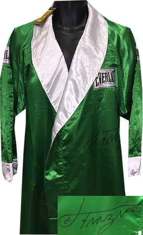 Joe Frazier signed Everlast Official Full Length Green Boxing Robe (deceased)- PSA Hologram #AA18547 PSM-Powers Sports Memorabilia