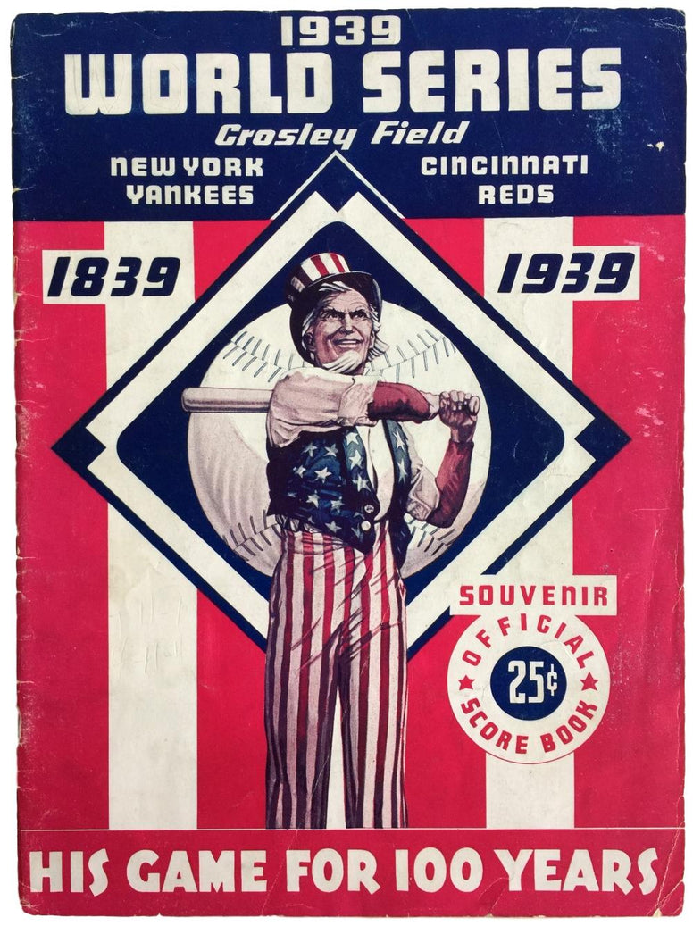 1939 World Series Program New York Yankees vs Cincinnati Reds PSM-Powers Sports Memorabilia