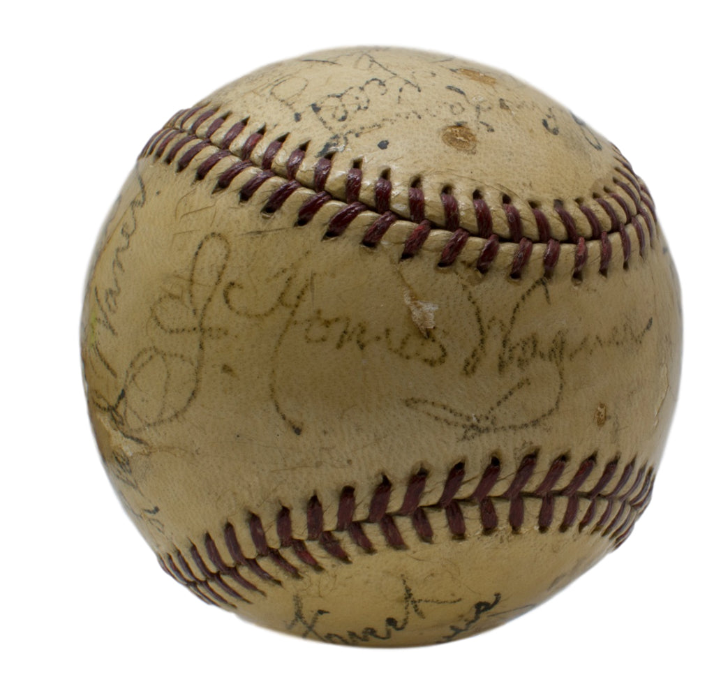 1940 Pittsburgh Pirates Team Signed Baseball w/ Honus Wagner+26 PSA/DNA LOA PSM-Powers Sports Memorabilia
