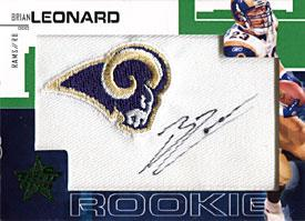 Brian Leonard Autographed / Signed 2007 Donruss No.239 St. Louis Rams Football Rookie Card PSM-Powers Sports Memorabilia