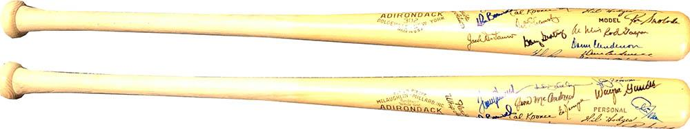 1969 New York Mets Autographed Adirondack Bat PSM-Powers Sports Memorabilia