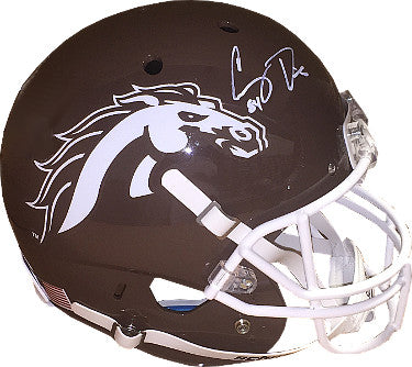 Corey Davis signed Western Michigan Broncos Schutt Full Size Brown Replica Helmet #84- JSA Hologram PSM-Powers Sports Memorabilia