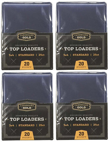 "Cardboard Gold CBG-TL Pro Toploaders Keeps Cards Ultra Protected, 3""x4"" L, 4 Pack of 25ct=100 total PSM-Powers Sports Memorabilia"