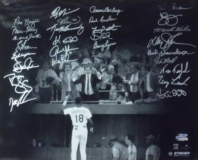 1986 World Champion New York Mets Team Autographed 16x20 Photo 28 Sigs STE PSM-Powers Sports Memorabilia