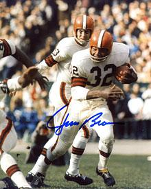 Jim Brown Autographed / Signed Running with the Ball 8x10 Photo PSM-Powers Sports Memorabilia