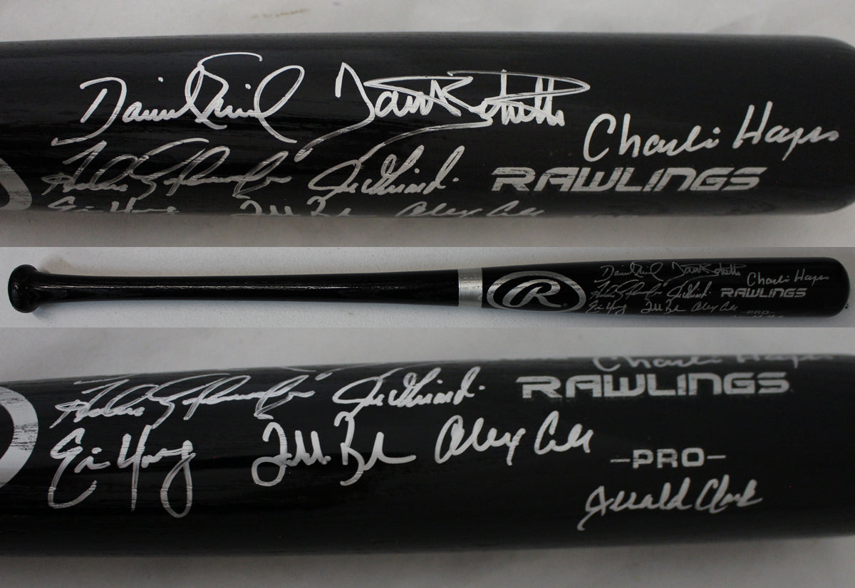 1993 Colorado Rockies Team Signed Rawlings Black Baseball Bat 9 Sigs JSA PSM-Powers Sports Memorabilia