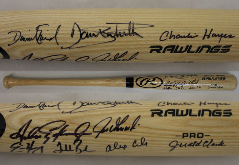 1993 Colorado Rockies Team Signed Rawlings Blonde Baseball Bat 9 Sigs JSA PSM-Powers Sports Memorabilia
