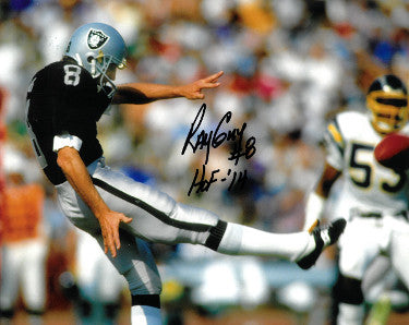 Ray Guy signed Oakland Raiders 8x10 Photo #8 HOF 14 (horizontal) PSM-Powers Sports Memorabilia