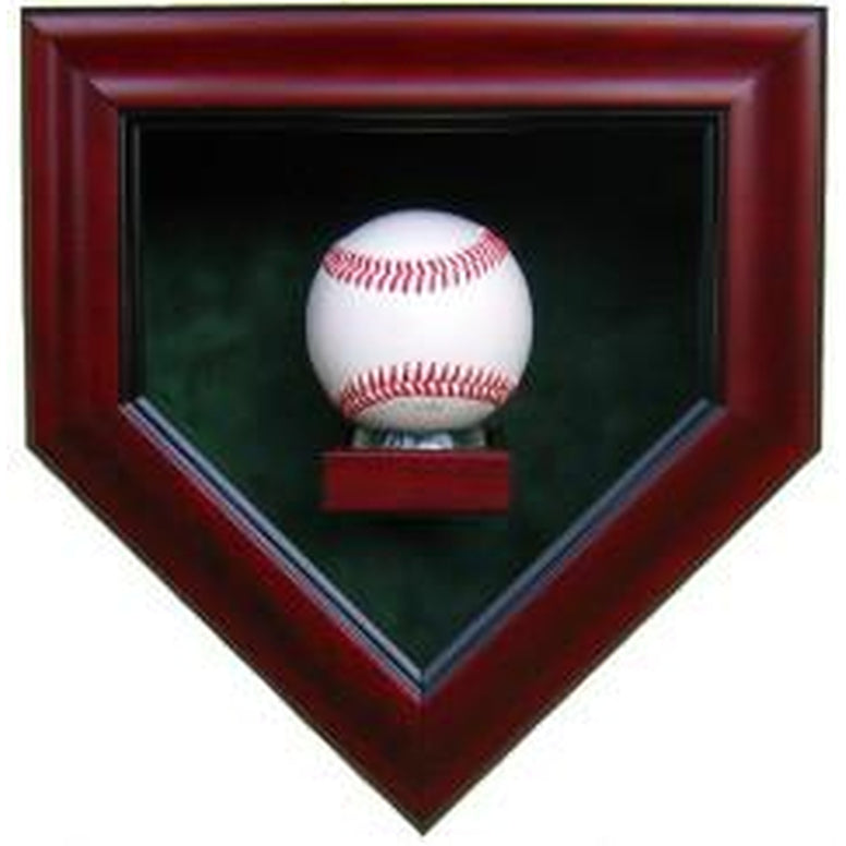 1 Baseball Homeplate Shaped Display Case-Powers Sports Memorabilia