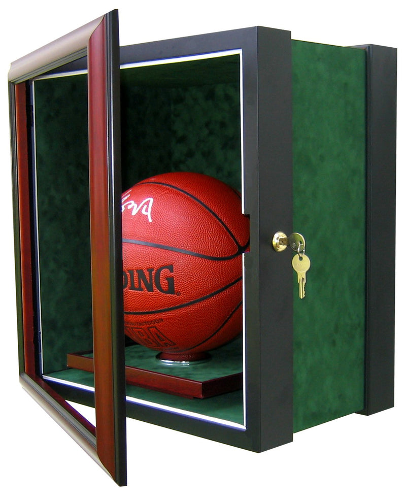 BASKETBALL DISPLAY CASE-Powers Sports Memorabilia