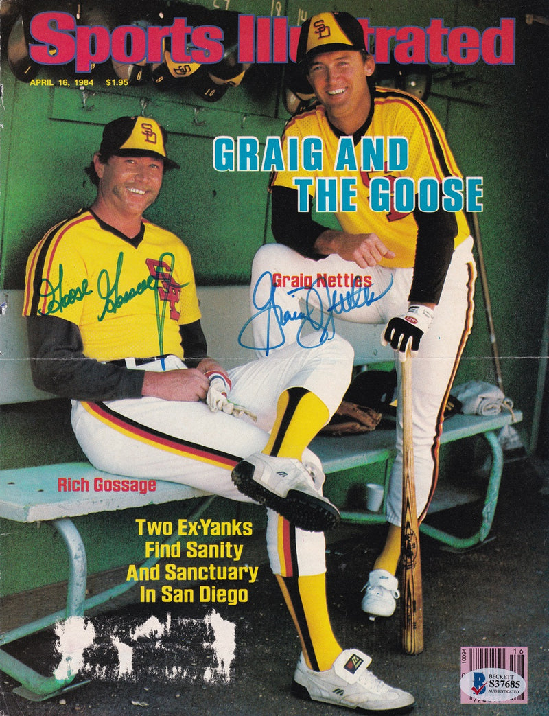 Rich Gossage+Graig Nettles San Diego Padres Signed Sports Illustrated Cover BAS PSM