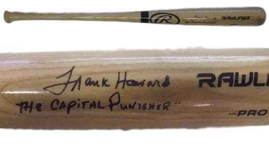 Frank Howard Autographed Washington Senators Blonde Baseball Bat Capital Punisher JSA PSM-Powers Sports Memorabilia