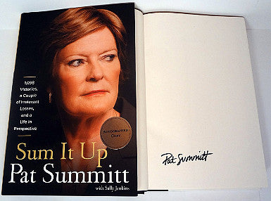 "Pat Summitt signed ""Sum It Up"" 1st Edition Hardback Book (Lady Vols/Tennessee Volunteers) PSM-Powers Sports Memorabilia"