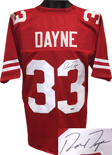 Ron Dayne signed Wisconsin Badgers Red TB Custom Stitched College Football Jersey XL- Tri-Star Hologram PSM-Powers Sports Memorabilia
