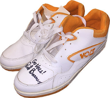 Rick Barnes signed Tennessee Volunteers Logo White Shoe w/ Go Vols- Beckett Hologram PSM-Powers Sports Memorabilia