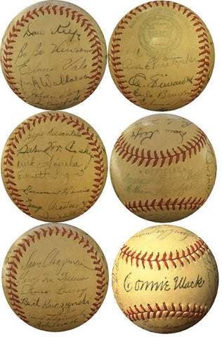 1946 Philadelphia Athletics Team Signed Official Reach National League Baseball – 25 sigs- Bobo Newsome, Al Simmons-Beckett LOA PSM-Powers Sports Memorabilia