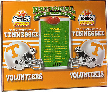 1998 Tennessee Vols Tostitos Fiesta Bowl National Champ poster 20x24 Metal Framed PSM-Powers Sports Memorabilia