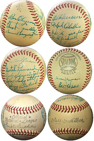 1948 Philadelphia Phillies Team signed Official Spalding National League Baseball (Ford Frick-Pres)- 20-sigs- Beckett LOA A08251