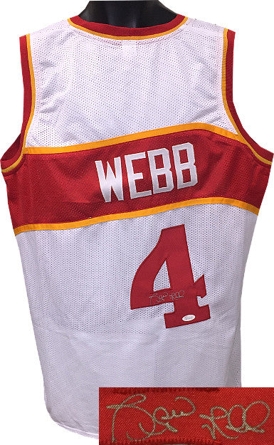 Spud Webb signed White TB Custom Stitched Pro Basketball Jersey XL- JSA Hologram PSM-Powers Sports Memorabilia