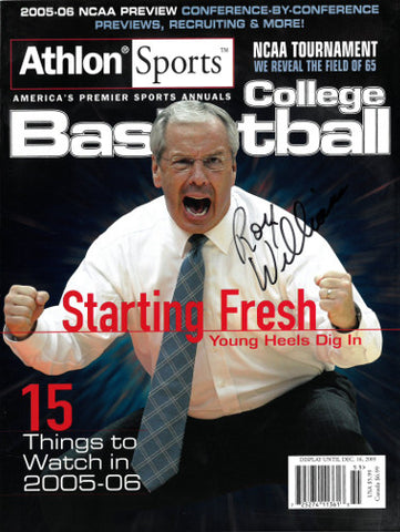 Roy Williams signed North Carolina Tar Heels 2005-06 Athlon Sports Full Magazine Preview PSM-Powers Sports Memorabilia