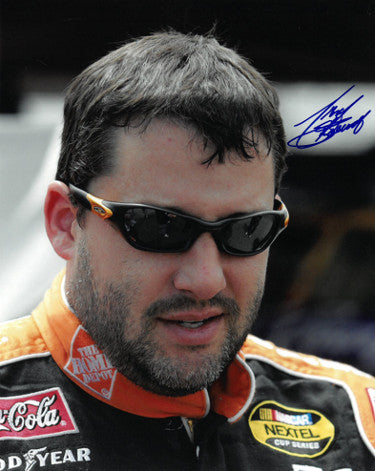 Tony Stewart signed NASCAR Home Depot 8x10 Photo (close up) PSM-Powers Sports Memorabilia