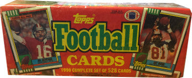 1990 Topps Football Complete Set 1-528 Box - Factory Sealed PSM